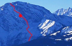 Göll Ostwand Unfall Skibergsteiger 300 Meter abgestürzt