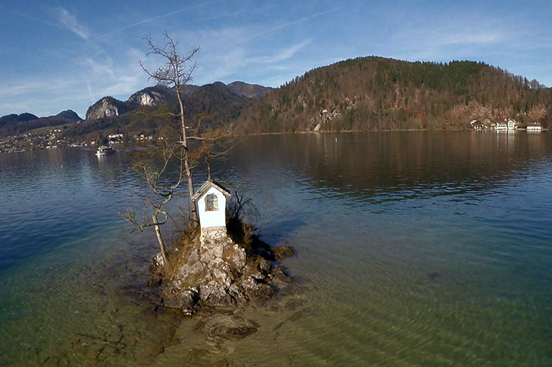 Ochsenkreuz im Wolfgangsee bei St. Gilgen