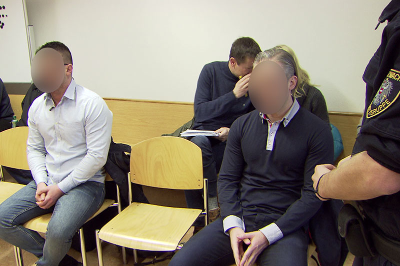 Angeklagte bei Prozess im Salzburger Landesgericht