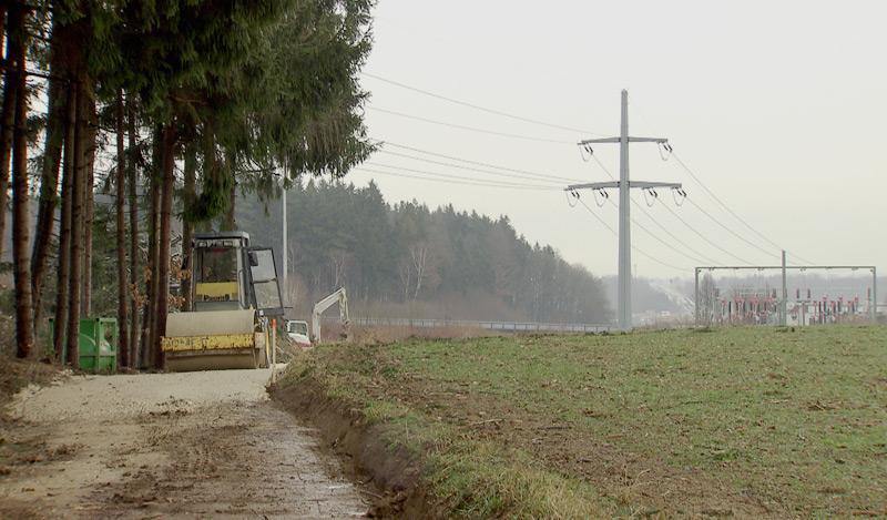 Baubeginn 110 kV Leitung