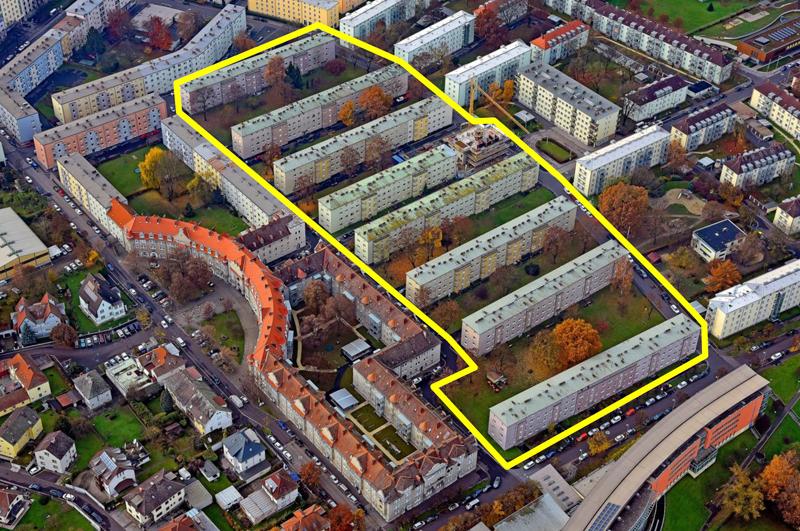Wohnhausanlage Wimhölzel Hinterland,  Luftaufnahme