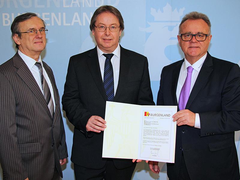 Landesamtsdirektor-Stellvertreter  Josef Hochwarter, Bezirkshauptmann Mattersburg Werner Zechmeister , Landeshauptmann Hans Niessl
