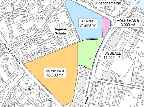 Die Karte zeigt die zukünftige Entwicklung des Campagnereiter-Areals