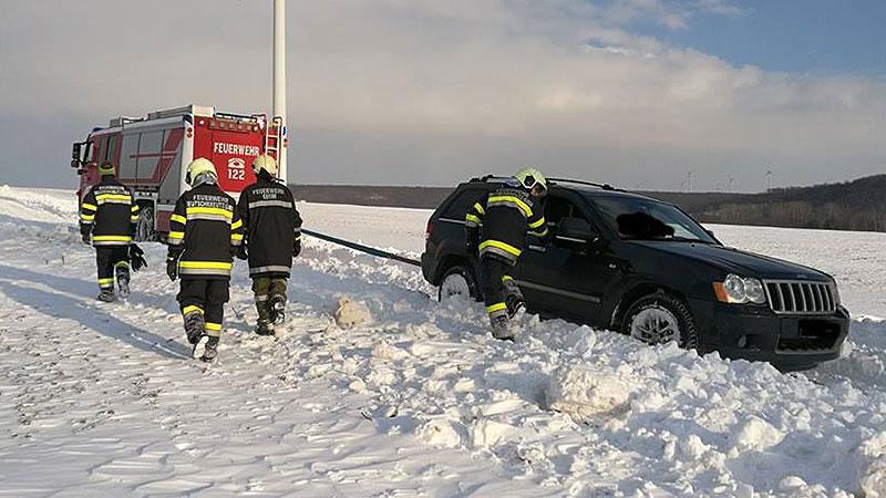 Güterwege Probleme für Feuerwehr, Einsatz in Deutschkreutz