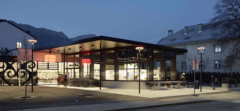 Filiale Mpreis in der Franz-Fischer-Straße in Innsbruck
