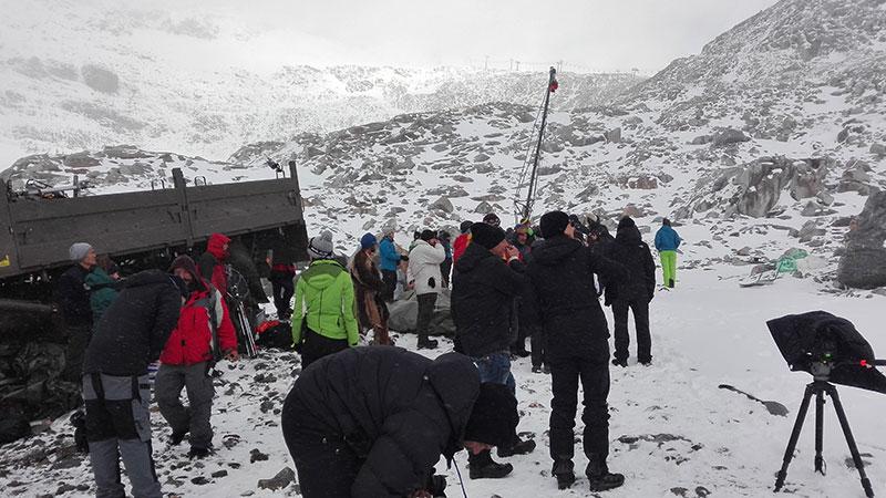Dreharbeiten Locationscout Mölltaler Gletscher Iceman