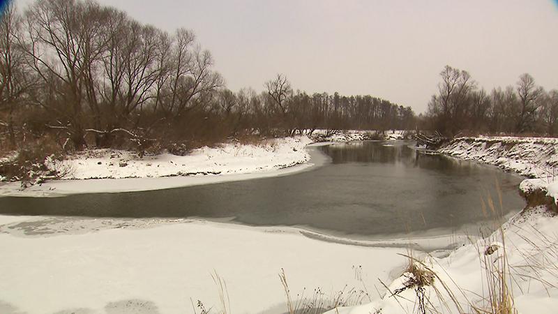 Raab-Landschaft im Winter