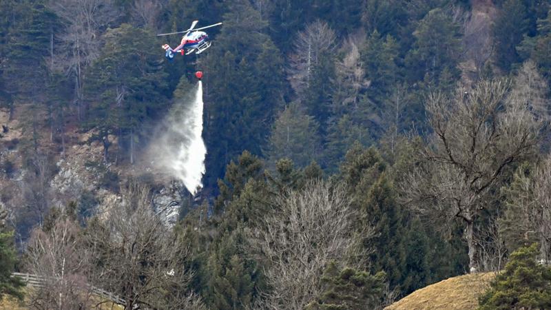 Löscheinsatz Hubschrauber