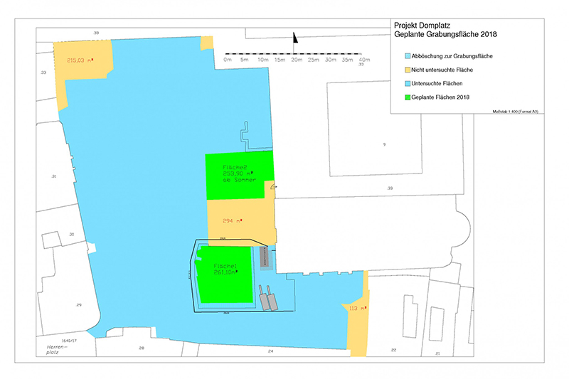 Grafik Ausgrabungen Domplatz 2018