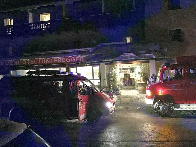 Brand Hotel Turrach Evakuierung Putzfetzen