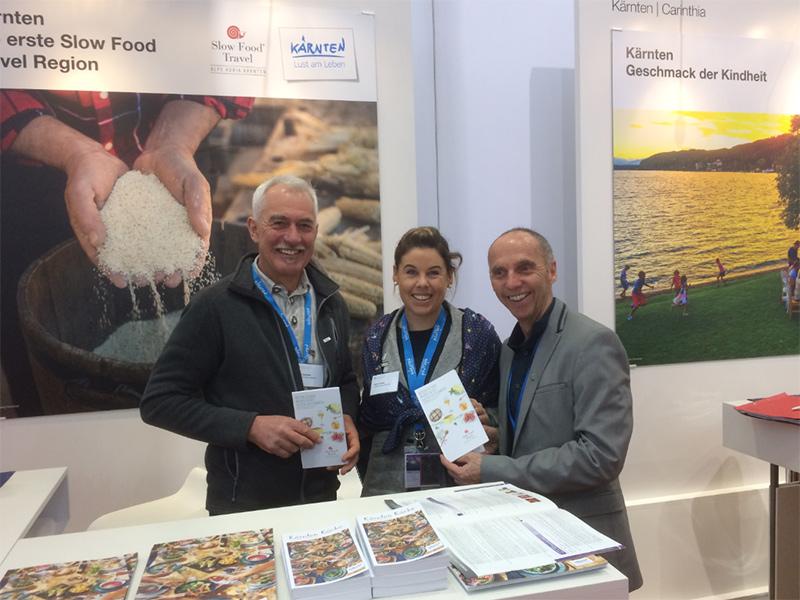 ITB mit Sepp Brandstätter, Eckart Mandler Martina Plamenig Slow food Stand