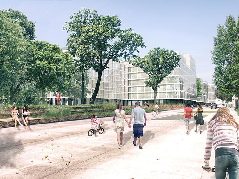 Areal Körner-Kaserne: Ein Rendering des Projekts. Es sollen 900 Wohnungen gebaut werden.