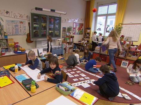 Mehrstufenklasse in der Volksschüle Brüßlgasse im 16. Bezirk