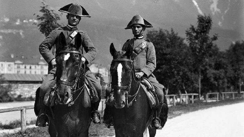 Italienische Soldaten in Innsbruck
