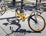 O-Bike auf einem Gehsteig