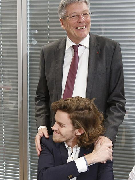 Peter und Luca Kaiser vor Parteivorstand SPÖ