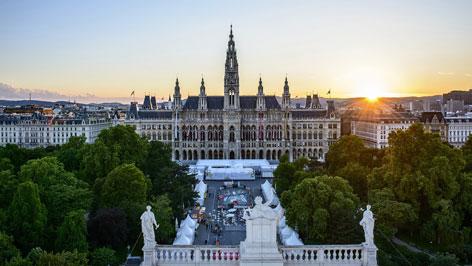 A bécsi városháza rathaus wien