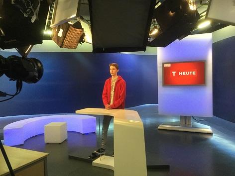 Schüler in TV Studio