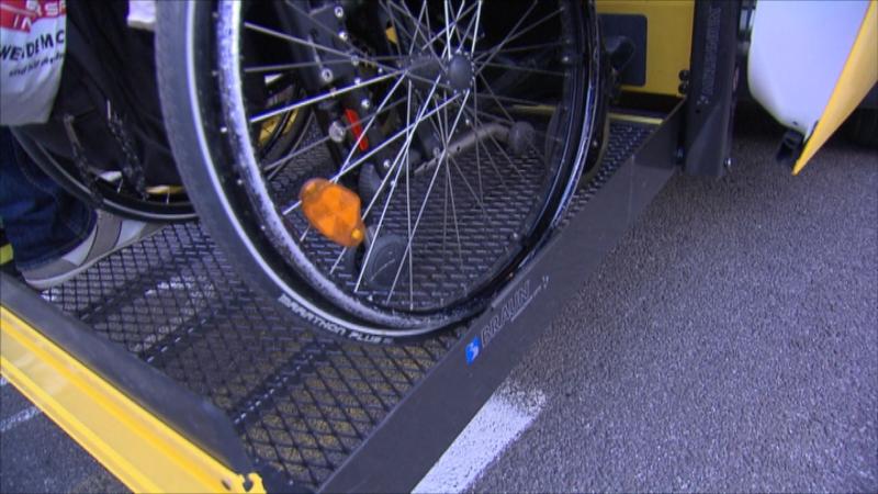 Transport von Rollstuhlfahrern