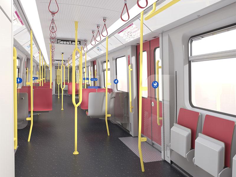 Neue U-Bahnzüge: Innenansicht neuer X-Wagen