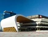 """Austria Center Vienna mit Vorkonstruktion """"Welle"""""""