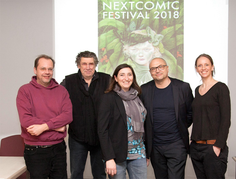 Festivalteam v.l.n.r.: Christian Wellmann, Peter Patzak, Genoveva Rueckert, Gottfried Gusenbauer, Katharina Acht