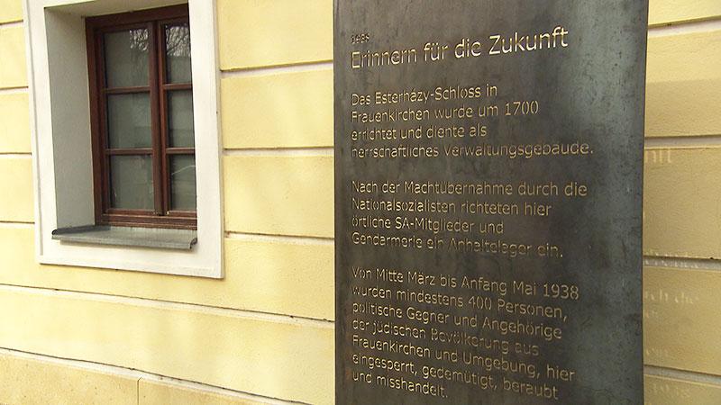 Gedenktafel in Frauenkirchen
