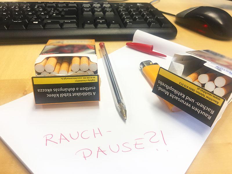 Rauchpause Auswirkung auf die Arbeitszeit Rauchen Arbeitsplatz
