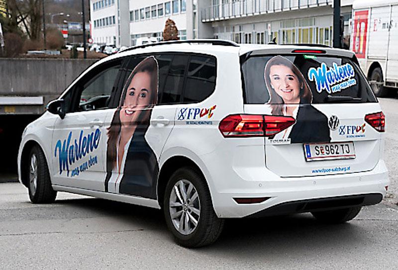 """""""Marlene mag man eben"""" Auto Wahlkampf FPÖ"""