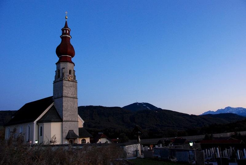 Psalmenweg, Pfarrkirche, Marmortafeln