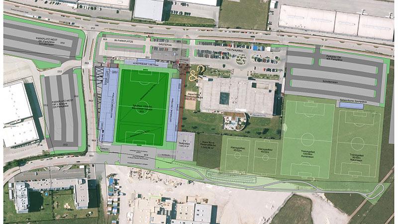 Plan des neuen Stadions