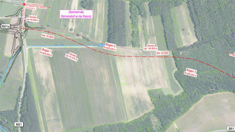 plan poduženje B61a do ugarske granice