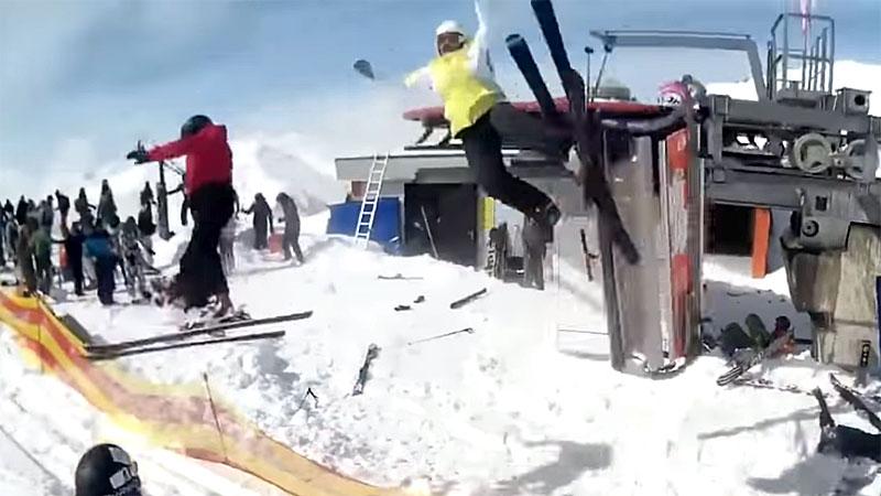 Unfall mit Skilift in Georgien