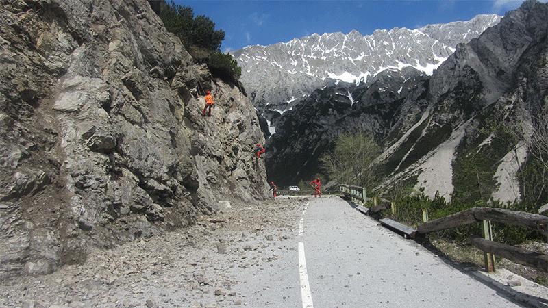 Felsräumarbeiten