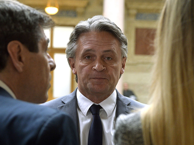 Peter Westenthaler vor Beginn der Berufungsverhandlung am Dienstag, 13. März 2018
