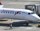 AUA-Flugzeug am Flughafen Wien-Schwechat