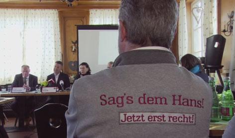 Wahlkampf-Motto Hans Mayr