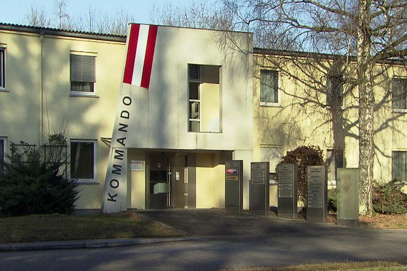 Gebäude des Kommandos Luftstreitkräfte in der Schwarzenbergkaserne in Wals Siezenheim