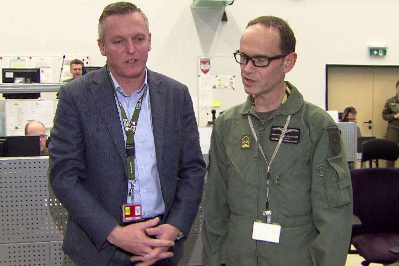 Verteidigungsminister Mario Kunasek (FPÖ) beim Besuch im Regierungsbunker in St. Johann im Pongau