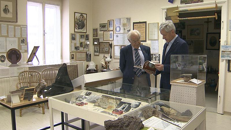 100 Jahre Kurbad AG Bad Tatzmannsdorf,   Rudolf Luipersbeck, ehem. Direktor Kurbad AG und  Helmut Sillner Leiter Kurmuseum