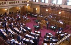 Gemeinderats- und Landtagssitzungssaal