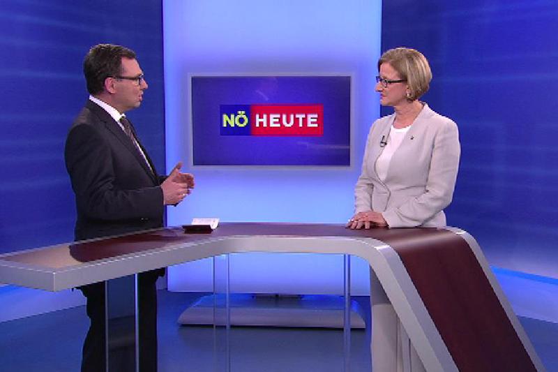 Ziegler und Mikl Leitner beim Studiogespräch