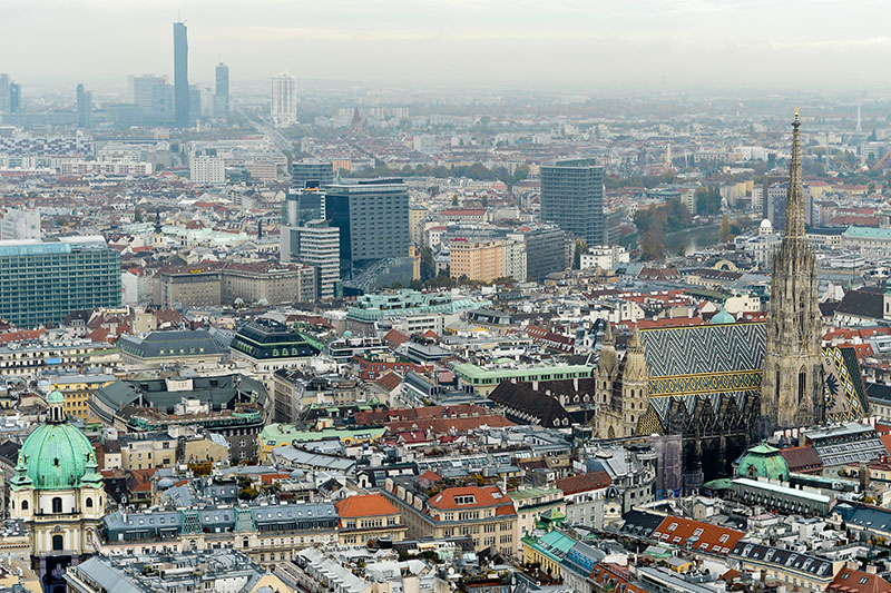 Wien Panorama Stephansdom