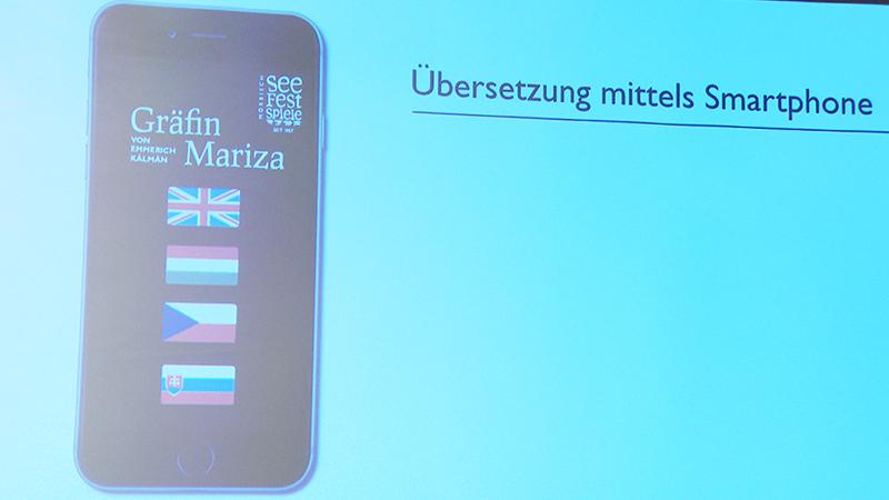 Plakat für Smartphone-Sprachapplikationen für Gräfin Mariza
