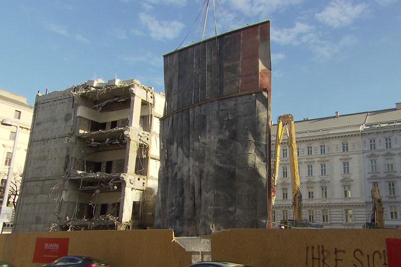 Abriss Rechenzentrum Rathaus