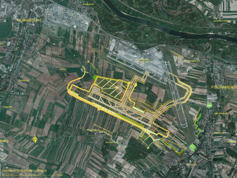 Dritte Piste Flughafen Wien Schwechat Plan