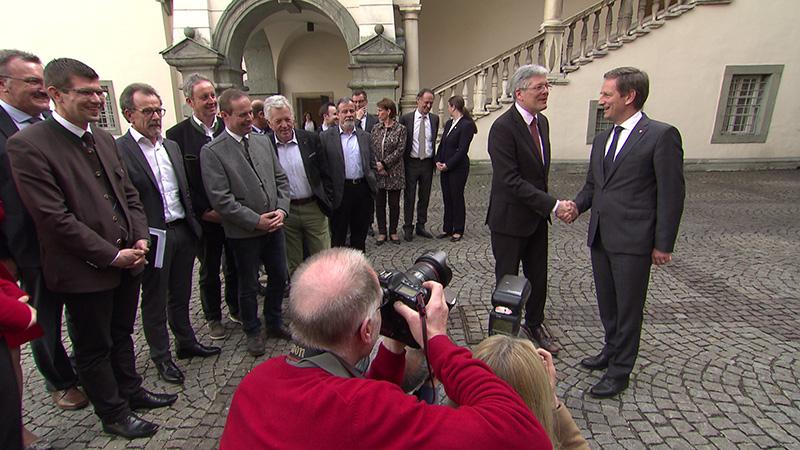 Koalition SPÖ ÖVP steht Benger Kaiser Landhaus