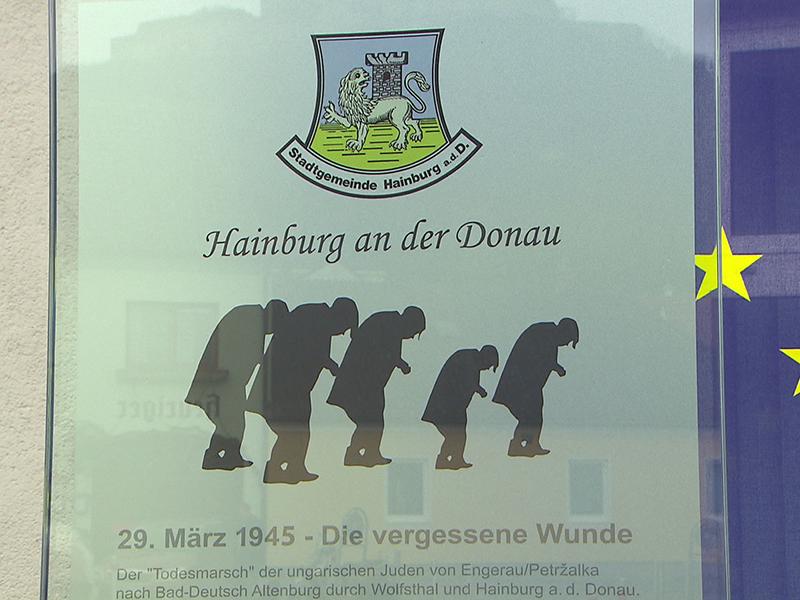Enthüllung der Gedenkstätte Hainburg