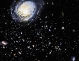 Blick ins Weltall mit Galaxien