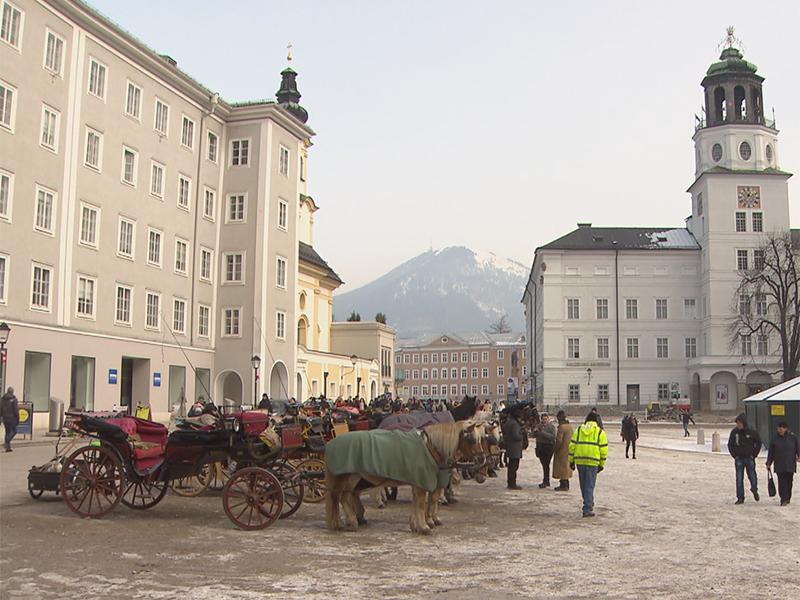 Fiakerstandplätze in der Stadt Salzburg